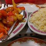 Battered Fish & Egg Fried Rice