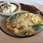 Amazing frittata with al dente grits at Circa 1876 complimentary breakfast!