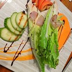 House salad at Last Chance Bar and Grill North Caicos, Turks and Caicos Islands