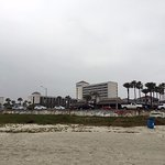From the beach, looking back at hotel.