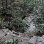 山頂から見渡す瀬戸内海は絶景。宮島の街や対岸もジオラマのようにみえます。山頂のダイナミックに横たわる岩は花崗岩といって、一つの岩が風化で割れたそうです。 体力に自信があれば徒歩での登頂を!階段