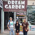 Me, the staff & my friend in front of The Dream Garden
