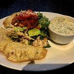 Chicken bruschetta salad & turkey soup