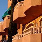 Balconies basking in the sun