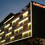 FACADE OF THE GATEWAY HOTEL AT NIGHT