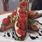Tomato and Basil Bruschetta Two Ways. $12.00