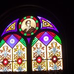 Lord Byron window - upper portion. The bottom portion was damaged in a recent storm. Beautiful