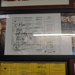 They have plenty of pictures from the visit from Adam Richman (Man vs. Food)