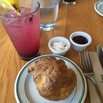 Popover with Blueberry Lemonade - Delicious