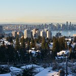 Direct view towards Vancouver skyline.