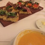 Bruschetta Sampler and Lobster Bisque
