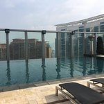 The rooftop swimming pool of The W