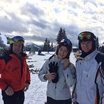 Walter - Westendorf's top Ski Instructor with Ciara and Sam from Ireland at Talkaser, Westendorf