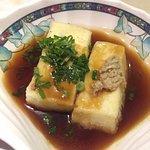 Fried tofu in Japanese sauce