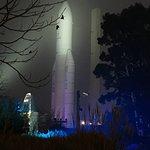 Ariane rocket in the fog