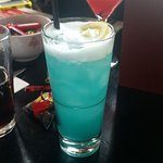 """Blue Plasma"" cocktail"