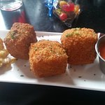 The mac and cheese bites, the sauce was very spicy, I wasn't a fan.