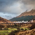 """The world famous Glenfinnan viaduct or """"Harry Potters"""" viaduct as it is well known as well."""