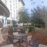 The patio area