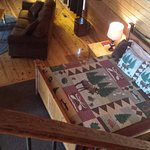Loft overlook to master bedroom