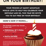 Enjoy a FREE meal on your birthday!