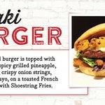 Try our famous Teriyaki Burger!