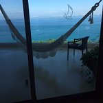 Our room with a hammock/private balcony.