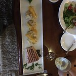 local salmon and quinoa with papaya