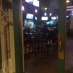 Entrance into the bar