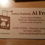 Photo of Trattoria Ai Frati