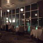 The dressier restaurant at night.