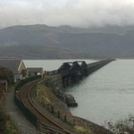 Mawddach Bridge,with footpath,cycle track