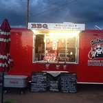 come get your bbq fix at our little red food truck!