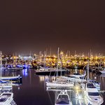 a pic of the marina at night i took from the balcony.