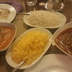 Paneer Makhanwala, Rogan Josh, Steamed and Saffron Rice