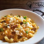 Spicy Mac and Cheese.  Our house-made Mac-n-cheese with smoked sausage and spicy spices.