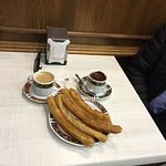 Light and hot churros with liquid hot chocolage!
