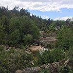 El arroyo se ve desde el jardín del hotel. Y se ve mucho más que en esta foto! :)
