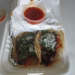 Two Beef taco's to go