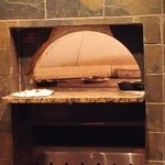 Pizza oven at the bar