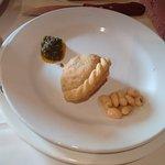 empanada and Marinated beans.