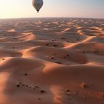 Balloon over the desert