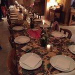 Table pour le repas de Noël