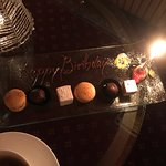 Lovely petit fours and even more lovely staff