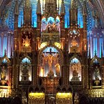 Inside Notre-Dame Basilica. Just around the corner from the hotel