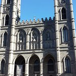 Notre-Dame Basilica. The walking tour starts, and you pay, on the steps outside.
