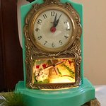 I loved this clock that was in our room at the Times House, Jim Thorpe, PA — in Jim Thorpe, Penn