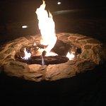 Fire pit outside.