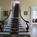 Beautiful staircase leading upstairs.