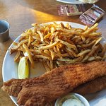 fish and chips with homemade fries.